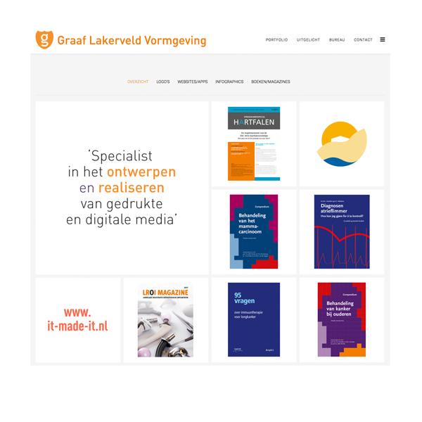Website Graaf Lakerveld Vormgeving