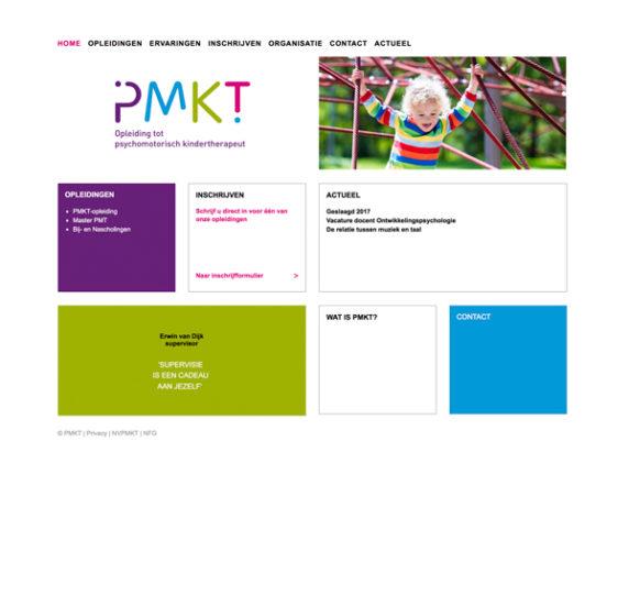 Website PMKT-opleiding