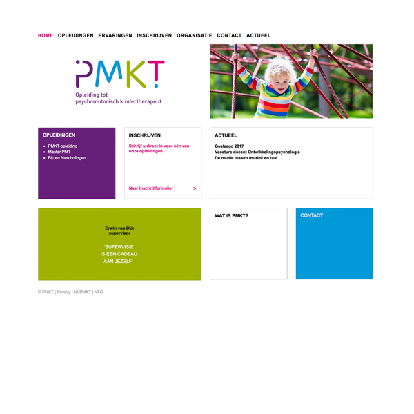 Website PMKT-opleiding